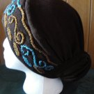 free shipping SOFT PADDED CAP UNDERSCARF BONNET HIJAB WITH BEADS HAT