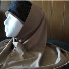 Brown with blace lace 2 PIECE LONG HIJAB shawal islam scarf headcover hejab