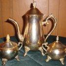 BRASS PLATED TEA SET 3PIECES VERY NICE islamic home decor