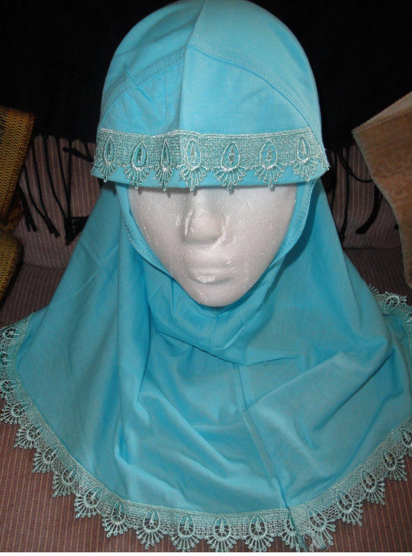 free shipping young girls cotton plain 1 pc Al amira style Hijab hejab underscarf
