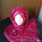 FREE SHIPPING PINK Long shayla hijab shawl scarf neck wrap abaya Glittery 30%COTTON AND 70% VESCOZE