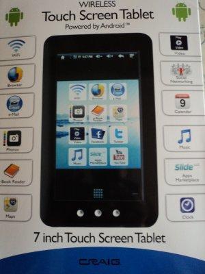 TABLET FREE SHIP 3G,4GB,256 CRAIG E-PAD WIRELESS GOOGLE ANDROID 2.1 ...