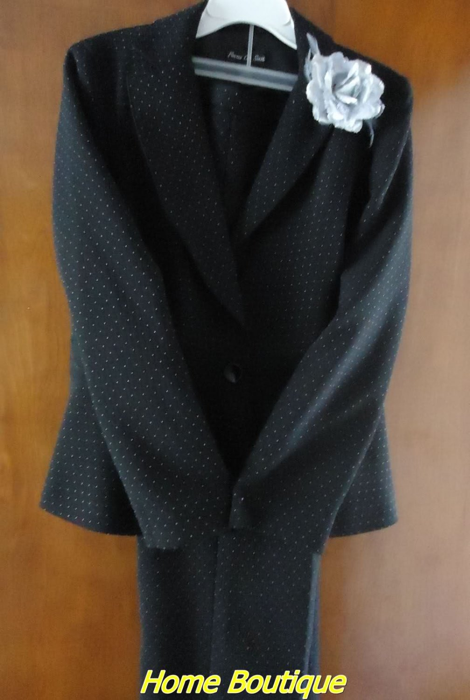 2 pieces SET woman's pant suit Black S10 w lace mint