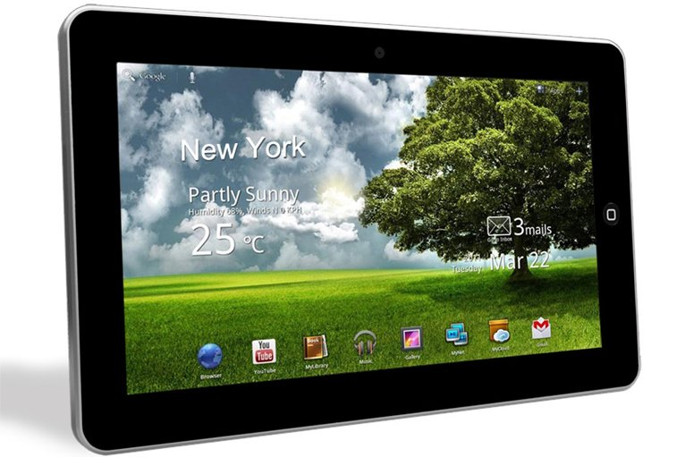 """Google Android 2.2 10"""" Touch Tablet PC Silver 4gb,512MB,camera,wifi,leather case mid 1006s"""