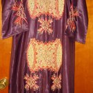 free shipping purple ABAYA Embroidered straSs Caftan Katan Jilbab Dress EID DRESS