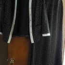 Elegant GLITTERY BLACK women's dress set with Jacket SIZE 14 MADE IN USA MINT