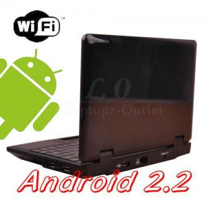 "New 7"" Android 2.2 Wifi Netbook 256M 4G 800Mhz Mini Laptop,Ereader.FB,Email get before xmas"