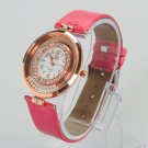 New Popular Removable beads Two Bands Diamond Quartz Wrist Watch Rose