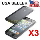3X Clear LCD Front+Back Screen Protector Cover Guard Film For Apple iPhone 5G