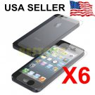 6X Clear LCD Front+Back Screen Protector Cover Guard Film For Apple iPhone 5G