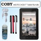 NICE HOLIDAY GIFT Coby MID7012-4G Kyros 7&quot; Android 2.3 4GB Internet Touchscreen Tablet with Coby C