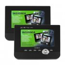 "refurbished Insignia NS-D7PDVD Portable Dual Screen DVD Player 7"" w/ Case Travel Car Mount"