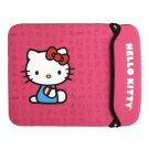 "12"" Netbook Hello Kitty Neoprene Sleeve Pink Laptop Cover Weather Proof"