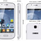 "free ship unlocked WHITE 4"" unlocked android 2.3 phone Smart Phone GSM dual sim GS 1ghz"