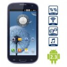 Samsung style 4.7 inch Android 2.3 Smart Phone WVGA Screen Dual SIM WiFi 5MP Camera (Royal Blue)
