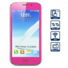 5.0 inch Dual Band Dual SIM Cell Phone with Touch Screen Dual Cameras Bluetooth Plum