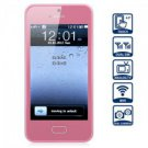 Unlocked 4.0 inch Touch Screen Cell Phone Quad Band Dual SIM Dual Cameras WiFi Analog TV (PINK