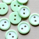 10 Small Light Green Round Sewing Buttons