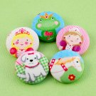 Princess Sewing Buttons - Handmade Fabric Covered Buttons - 5pcs - 1 1/8 inch