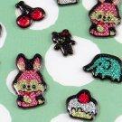 Kawaii Puffy Sticker Sheet - Bunny, Cake, Cherry, Strawberry - From Japan