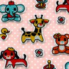 Kawaii Puffy Sticker Sheet - Elephant, Teddy Bear, Giraffe and more - From Japan