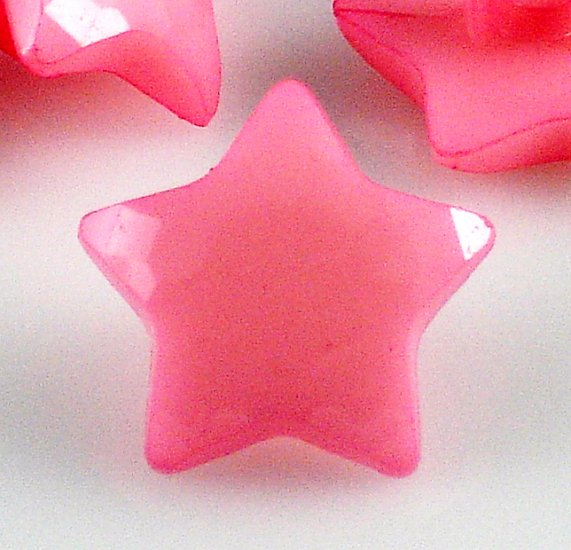 8 Pink Star Shaped Buttons for Sewing