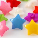 16 Star Shaped Buttons for Sewing - Assorted Colors