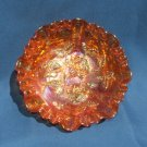 VINTAGE IMPERIAL GLASS LUSTRE ROSE MARIGOLD CARNIVAL GLASS FOOTED BOWL
