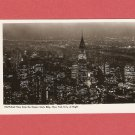 VINTAGE NIGHT AERIAL VIEW NEW YORK CITY PHOTO POSTCARD