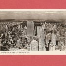 VINTAGE NORTH VIEW FROM EMPIRE STATE BUILDING NEW YORK CITY PHOTO POSTCARD