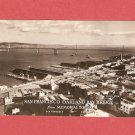 VINTAGE SAN FRANCISCO OAKLAND BAY BRIDGE CALIFORNIA PHOTO POSTCARD