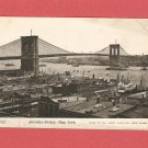 EARLY 1900s BROOKLYN BRIDGE NEW YORK PHOTO POSTCARD