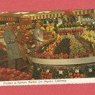 VINTAGE PRODUCE AT FARMERS MARKET LOS ANGELES CALIFORNIA PHOTO POSTCARD