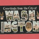 1915 GREETINGS FROM THE CITY OF WASHINGTON DC COLOR POSTCARD