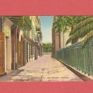 VINTAGE ST. ANTHONY'S ALLEY NEW ORLEANS LOUISIANA COLOR POSTCARD