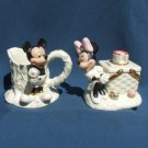 2005 LENOX DISNEY MICKEY MINNIE MOUSE PICNIC CREAM AND SUGAR SET