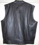 SINGLE PANEL BACK ONE PIECE THE SONS OF THE ANARCHY OUTLAW LEATHER BIKER VEST VESTS CUT BUY SOA