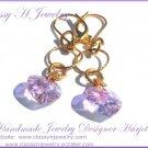 ''RAINY LILAC'' Swarovski Earrings