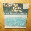 Ice Blue Inside Rainbow Seed No 1101-91 Darice Jewelry Designer Beads