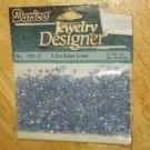 Denim Blue Cut Silver Lined No 1101-77 Darice Jewelry Designer Beads
