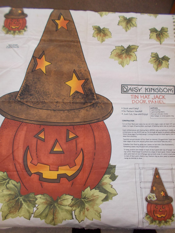 Daisy-Kingdom-Tin-Hat-Jack-O-Lantern-Panel-Fabric-Pumpkin-Halloween-Craft