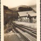 Cog Railway Office Log Cabins Dirt Road Vintage Photo 1942