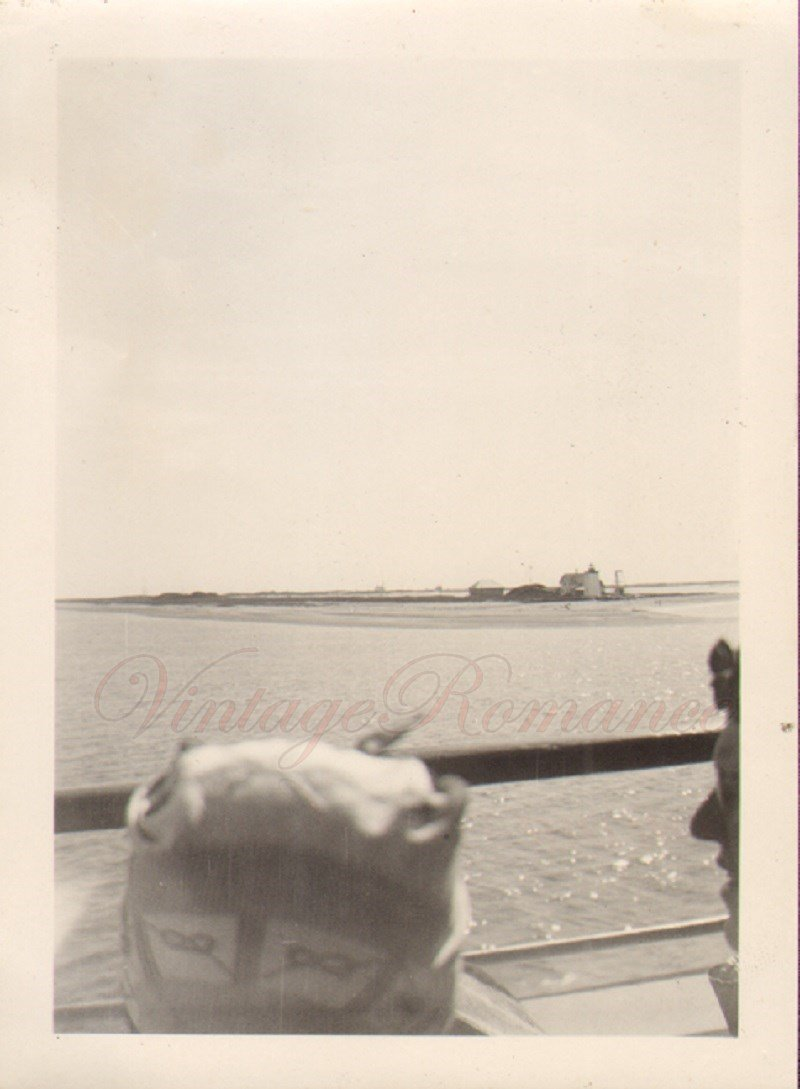D01404 End of Cape Cod a Head in the Photo Vintage Photo