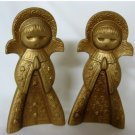 Vintage Pair of Gold Praying Angels