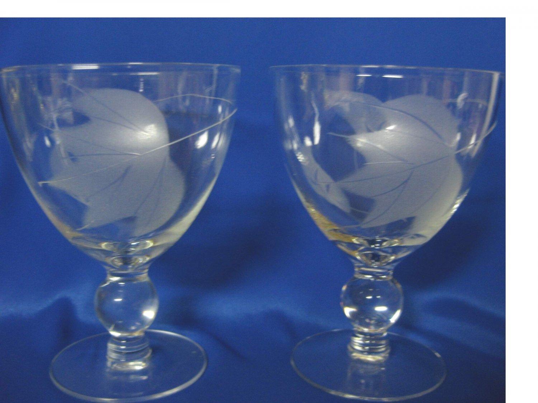 Vintage.....1940's......Set of SIX.......Water/Wine Goblets
