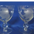 Vintage.....1940's......Set of SIX.......Water/Wine Goblets