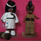 Vintage...Native American Indian Dolls...Handmade by The Sioux