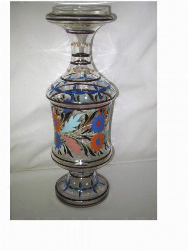Vintage...Hand Painted Bottle Decanter