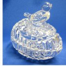 Vintage.....Glass Egg Trinket Box with Bird on Lid