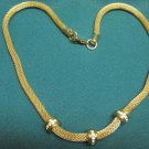 Older....Goldtone Necklace with Rhinestones